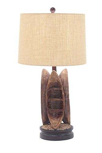 Deco 79 47651 Table Lamp, Brown/Beige