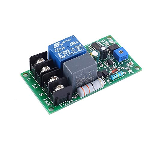 Módulo de relevo 30 Módulo de relé de retardo ajustable Retardo a la desconexión del circuito de CA 220V retardado sincronización del ventilador Apagado Apagado Luz de enfriamiento Para el voltaje de