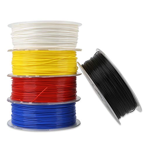 feichang Office Equipment White/Black/Yellow/Blue/Red 1KG 1.75mm PLA Filament For 3D Printer (Color : White)
