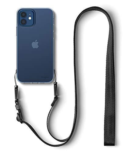 【Ringke】iPhone 12 ケース 6.1インチ MagSafe 対応 クリア スマホケース ストラップホール [ショルダーストラップ付き] 透明ケース スリム ライト 落下防止 カバー Qi 充電 アイフォン12 ケース iPhone12 2020 Air ケース (Clear クリア)