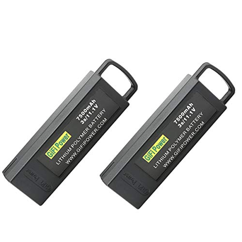 2 Pack 7500mAh 11.1V 3S LiPo Battery Compatible with Yuneec Q500 Series Q500, Q500+, Q500+PRO, Q500 4K RC Drone Quadcopter Upgrade Rechargeable Replacement Batteries Quadcopter Part