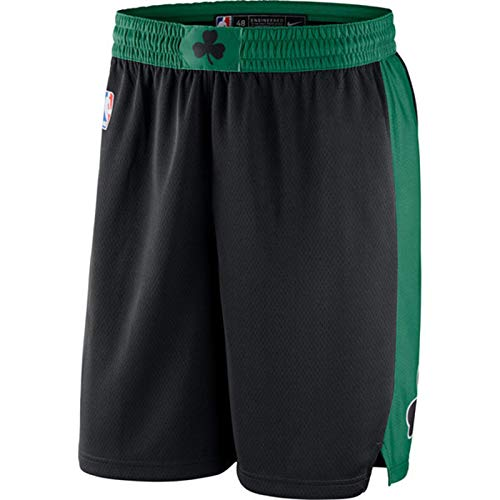 Kemba Walker Bird Garnett Russell Boston Celtics Herren Basketball-Shorts, City Edition Mesh Basketball Swingman kurz, atmungsaktiv Schweiß Gr. XL, Schwarz