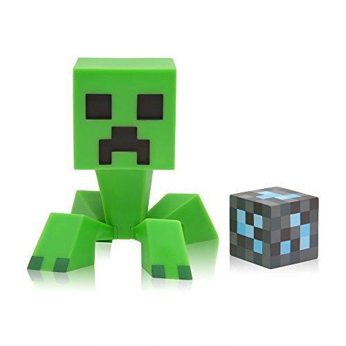 JINX Minecraft Creeper 6-Inch Vinyl Action Figure with Diamond Ore Block