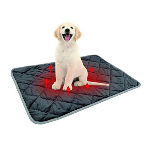 Grande Almohadilla térmica Mascotas Autocalentado, Manta de Calefacción No Eléctrica para Perros...