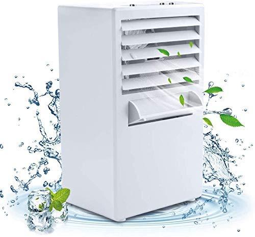XJZKA Ventilador de Aire Acondicionado portátil, Enfriador de Aire Personal, Mini Ventilador, evaporador, humidificador, Aire Acondicionado de Escritorio para Acampar, Oficina, Blanco