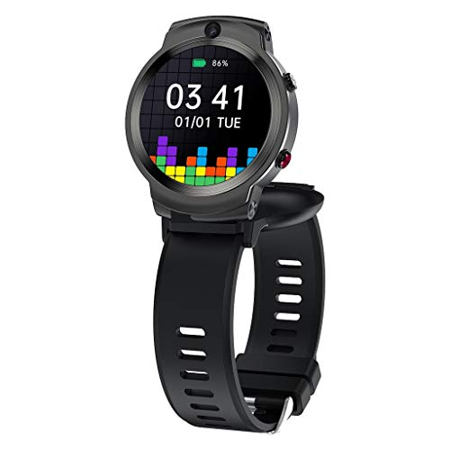 """New for LEMFO LEM13 1.6"""" 3GB+32GB Rotating Screen Face ID Smart Watch,1280mAh Smart Watch,2.0Mp Front + 8.0Mp Rear Camera,WiFi GPS Fitness Bracelet Men Women 4G Smartwatch for iOS/Android Phone"""