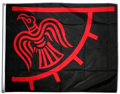 Fahne / Flagge Wikinger Odinicraven + gratis Sticker, Flaggenfritze®
