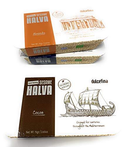 Dulcefina, Organic Honey Halva w/ Dark Chocolate Kosher Gluten Free 75gr (6 pcs)