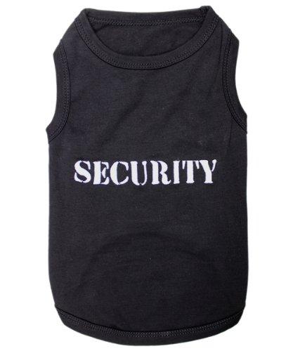 Parisian Pet Dog Cat Security Tee Embroidered T-Shirt, M