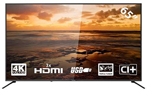 YASIN SCEPTR E-U65 LED-tv 65 pouces (4K, Triple Tuner, CI+, 3x HDMI, USB)