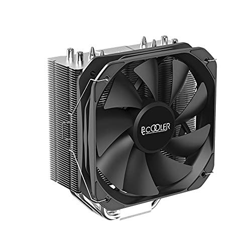 原文 PCcooler K4000 CPU radiador refrigerado por aire, 4 Heatpipe Enfriador de caja de computadora de alto rendimiento, tubo de calor térmicamente conductivo cantidad 50 W para Intel AMD CPU cooler