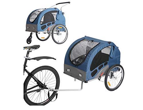 Leonpets Fiximaster Large Size Pet Dog Fahrradanhänger und Kinderwagen mit Aufhängung und Handbremse 10401 Blau