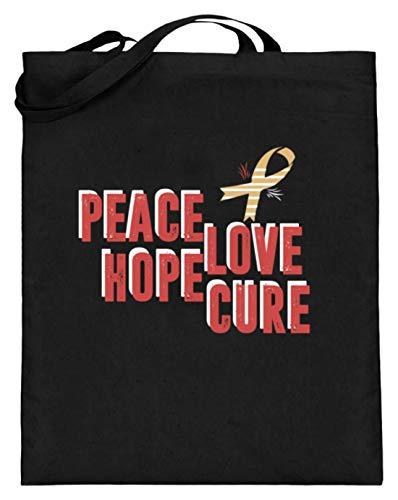 Algemeen Peace Love Hope Cure - Aids-lus met vleugels - jute zak (met lange handvatten)