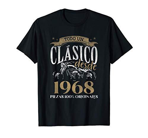 Nacido En 1968 - 53 años Cumpleaños Moto Biker Hombre Motero Camiseta