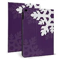 紫に対して明るい白い雪 iPad 2018 ケース アイパッド 2017 9.7 ipad air2 手帳型保護カバー 耐衝撃 傷つけ防止 全面保護 二つ折 オートスリープ 高級PU レザーケース
