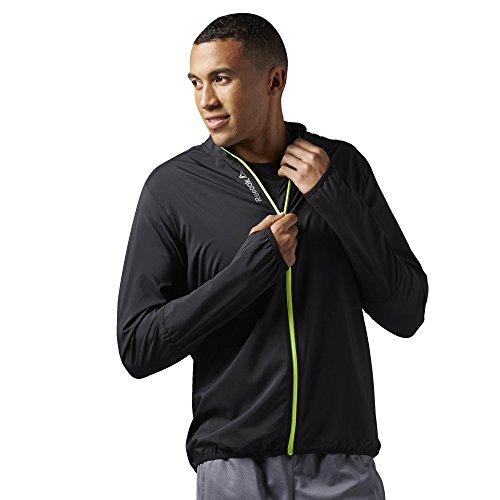 Reebok Jacke Running Essentials Woven Jacket Chaqueta, Hombre, (Negro), M
