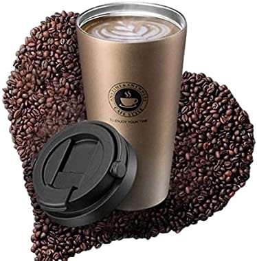Bilvina Stainless Steel Vacuum Insulated Travel Tea and Coffee Mug -Insulated Cup for Hot & Cold Drinks, Travel Thermos F