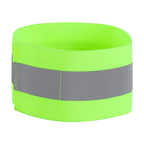 Photo of Guangcailun Reflective Safety Armbands High Visibility for Night armband green Reflective Jogging Cycling Running