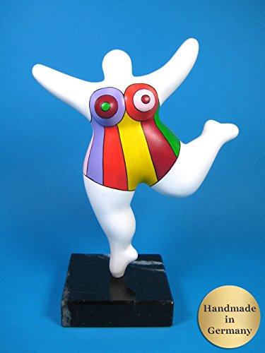 Biriney Nana-Skulptur handgefertigte Nana Figur auf Naturstein-Sockel frei nach Niki de Saint Phalle! Sophie Hannover