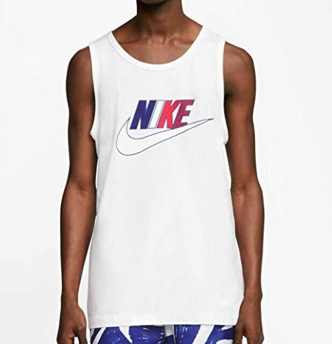 Nike Sportswear Men's Futura Icon Tank Top Sleeveless Shirt (White, Large)