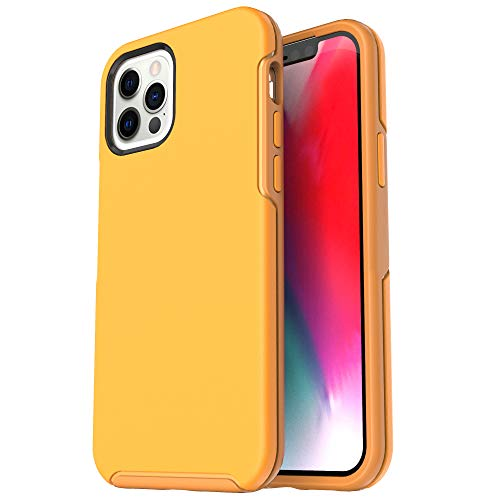 Krichit Ongoing Series Compatible with iPhone 12 Pro Max case (2020), Anti-Drop and Shock-Absorbing case Compatible with 6.7-inch iPhone 12 Pro Max Cases (Yellow)