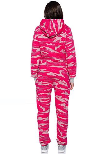 Crazy Age Jumpsuit Overall Einteiler CA 2840 in neuen trendigen Camouflage Farben (S, Pink(A)) - 4