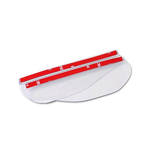 Romsion Spiegels & Accessoires 2 stks 1.8x5.5CM Auto Regen Shield Achteruitkijkspiegel Regen Messen Auto Terug Spiegel Wenkbrauw Regenbord Kleur: wit
