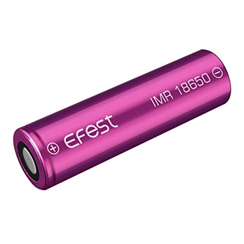 eFest 3000 mah 18650 High Drain Flat Top Battery 2 in a Pack for Flashlights, CCTV, Camera, E...