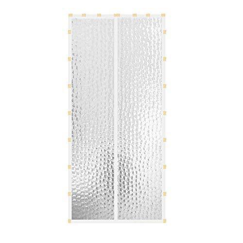 Liveinu Wärmeschutzvorhang Magnet Thermo Türvorhang Fliegengitter Panel-Isolierung Thermovorhang Wasserdicht Winddicht Klimaanlage Fliegenvorhang für Balkontür Wohnzimmer 90x210cm Weiß