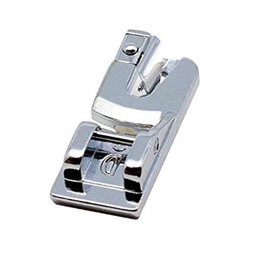 Alfa Prensatelas dobladillador 2 mm 'D', accesorio para máquina de coser, acero inoxidable.