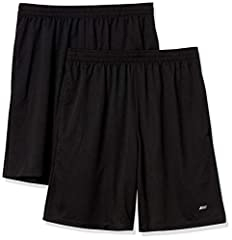 """Train in confidence with this pack of two lightweight shorts made with quick-dry, moisture-wicking, closed-hole mesh Loose fit is designed for all day comfort and full range of motion with an internal drawstring and 8"""" inseam Sport made better: we li..."""