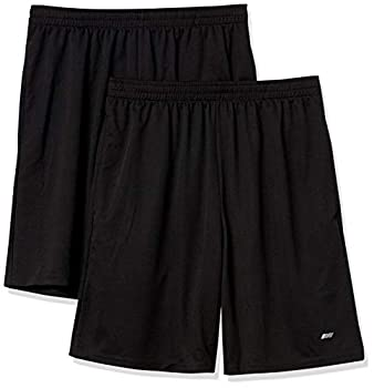 Amazon Essentials Men's 2-Pack Loose-Fit Performance Shorts Black/Black XX-Large