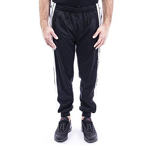 Kappa Pantalone Uomo Nero Acetato con Banda Larga e Stampa con Logo 304LIC0903 XL