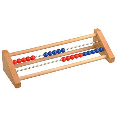 Rechenschieber rot/blau, Zahlenraum 1-20, Akakus aus Holz | Wiemann Lehrmittel