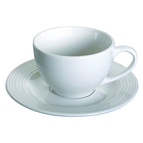 Tognana Polis Circles Confezione 6 Tazze da tè con Piattino, Porcellana, Bianco