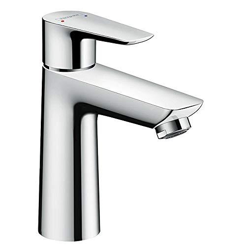 hansgrohe Wasserhahn Talis (Armatur mit Auslauf Höhe 110mm und Push-Open Ablaufgarnitur) Chrom