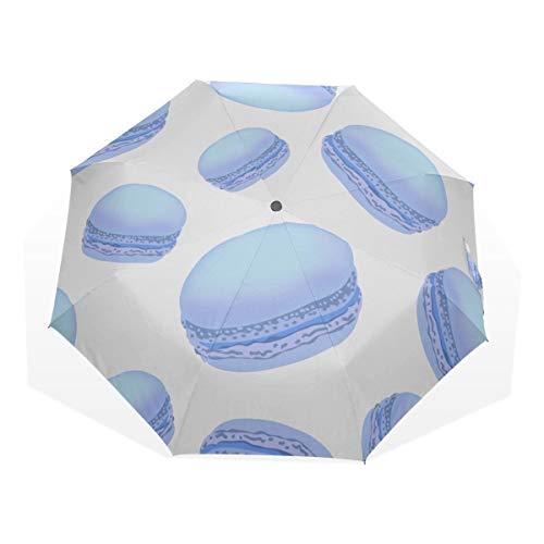 Big Rain Umbrella Macaron Blue Fantesy Surprise 3 Fold Art Umbrellas (impresión Exterior Rain Umbrellas Travel Umbrella Women Umbrella Folding