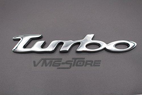 3D Turbo Emblem ABS Kunststoff mit Schaumstoff-Kleberückseite Badge von VmG-Store (Chrom)