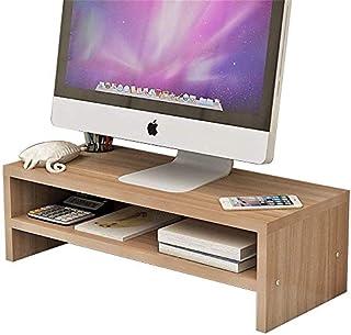 Wooden Monitor Stand,Screen Riser Monitor Riser Screen Stand Desk Attachment Desktop Organizer Display mounting Rack