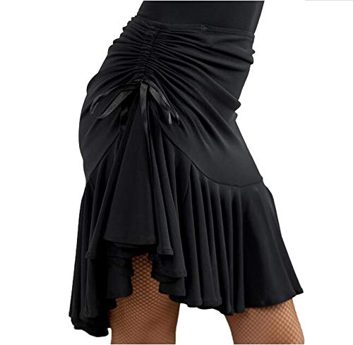 my cat Vestido de danza latina para mujer, falda negra, púrpura, cuadrada, danza latina