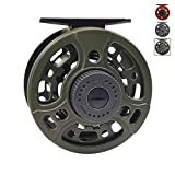 Z Aventik Alum Die Cast Fly Reel Black 3/5 5/7 7/9 Super Large Arbor New Fly Fishing Trout Fresh Water and Salt Water (Green, 7/9)