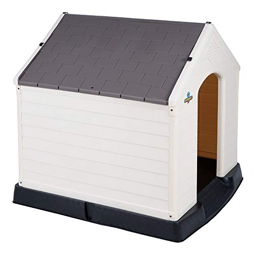 Confidence Pet XL Waterproof Plastic Dog Kennel Outdoor House Extra Large Brown