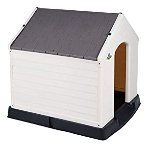 Confidence Pet XL Waterproof Plastic Dog Kennel Outdoor House