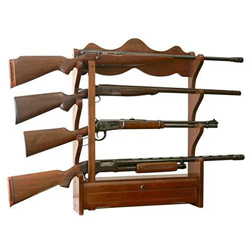 American Furniture Classics Model 840, 4 Gun Wall Rack