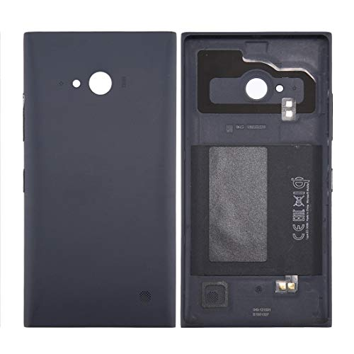 SHILG -Solid Color NFC Battery Back Cover for Nokia Lumia 735 (Black) DIY (Color : Black)