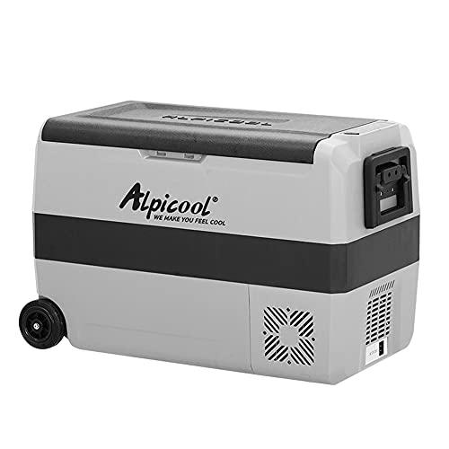 KKmoon 50L Nevera Portátil Eléctrica Refrigerador y Congelador de Compresor con Rodillo, para Hogar, Camping, Viajes, Automóvil -20℃ to 20℃(110-240V)