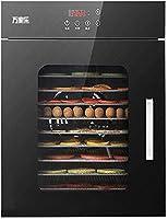 食品脱水機商用グレード16層ステンレストレイ80L容量高温保護機能ドライフルーツ/野菜/肉メーカーブラック