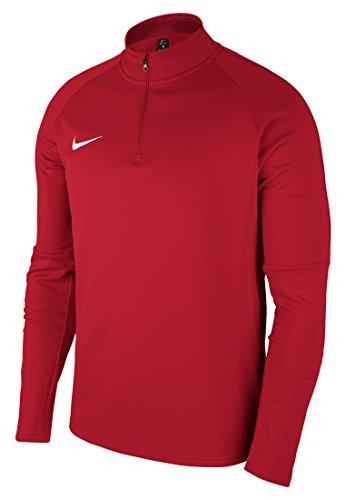 Nike Dry Academy 18 Drill, Maglietta Uomo, Rosso università/Rosso Palestra/Bianco, M
