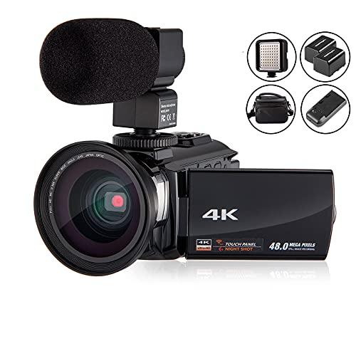 4K Camcorder Video Camera KOT HD WiFi 3.0 Inch IPS...