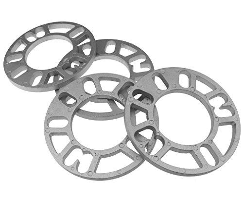 4 distanziatori per ruote da 10 mm, in lega di alluminio, 4 e 5 perni, universale, per auto